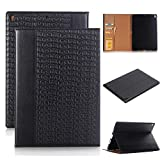 2017 New iPad 9.7/iPad 9.7 2018 Cover,Businda Luxury Book Style Folio Protective Cover with Stand, Magnetic PU Leather with Smart Auto Sleep/Wake & Card Holders Cover for 2018 iPad 9.7 inch - Black