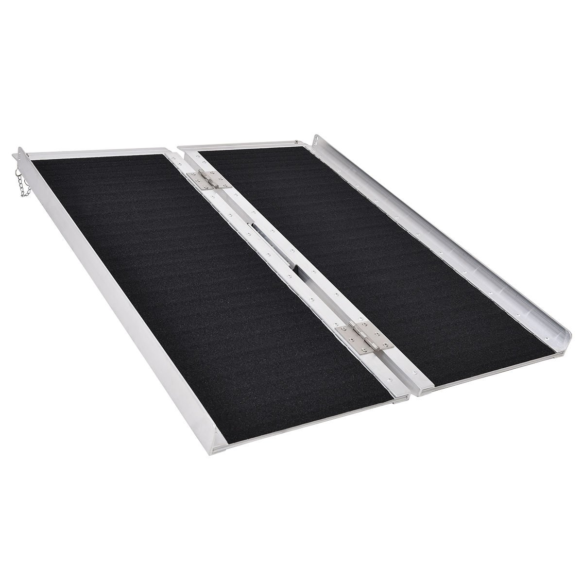 Goplus® Multi-Fold Aluminum 3' Non-skid Wheelchair Ramp Mobility Scooter Mobility Ramp (3' x 30'')