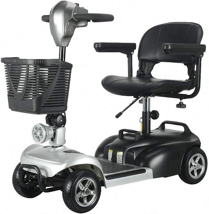 Miarui Scooter eléctrico minusválido Scooter Electrico Adulto 4 Ruedas con Asiento hasta 8km/h 180W Rango de kilometraje 18 km Apto para Personas Mayores, discapacitadas
