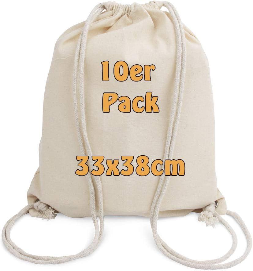Cottonbagjoe Mochila de Algodon para ninos, 10 Piezas, Öko Tex 100: Amazon.es: Ropa y accesorios