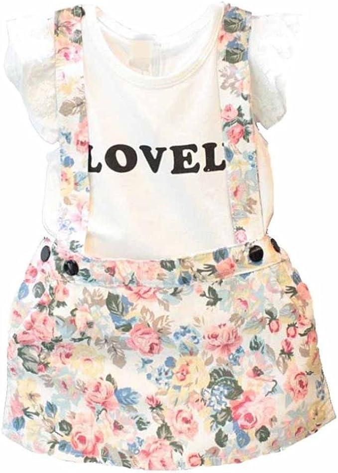 Vestido niña, Switchali Bebé Niña Verano moda blusa chaleco floral ...