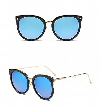 Mode Sonnenbrille Damen Retro Sonnenbrille , Helles Schwarzes Eisblau