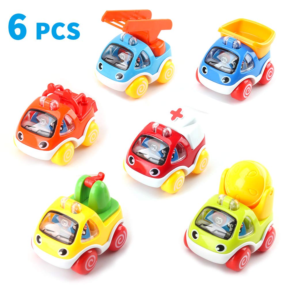 Amy & Benton Toy Cars for Toddlers Toy Cars for 1 Year Old Boy Baby Pull Back Cars for Toddlers 2 - 3 Year Old Construction Vehicles Baby Birthday Gift Toys