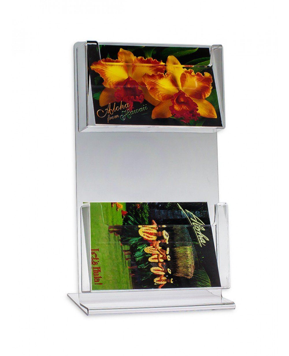 Source One Deluxe 2 Tier Postcard Holder (6 x 4, 1 Pack)