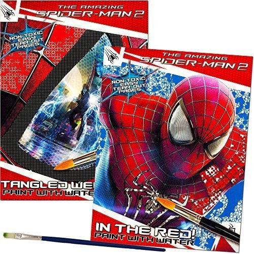 Spider Paint Man (Marvel Spiderman Paint With Water Books with Paint Brush (2 Books, 1 Green-Tip Paint Brush))