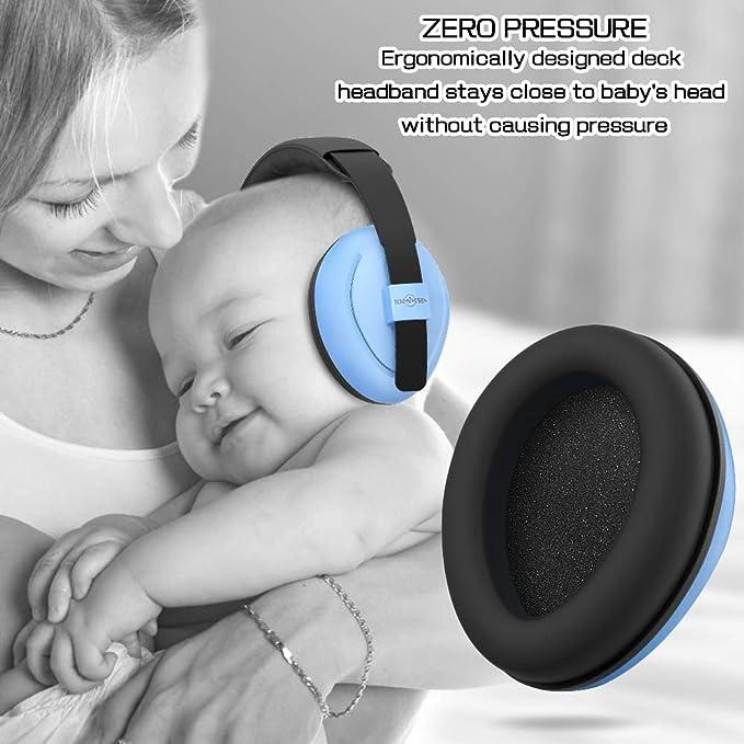 Toennesen Protección para Los Oídos del Bebé - Reducción De Ruido Orejeras con Insonorizadas Orejeras Protección Auditiva para Bebés y Niños Pequeños ...