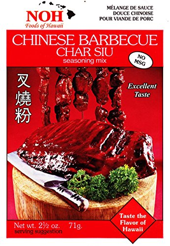 NOH Chinese Barbecue (Char Siu), 2.5-Ounce Packet, (Pack of 12) by NOH Foods of Hawaii