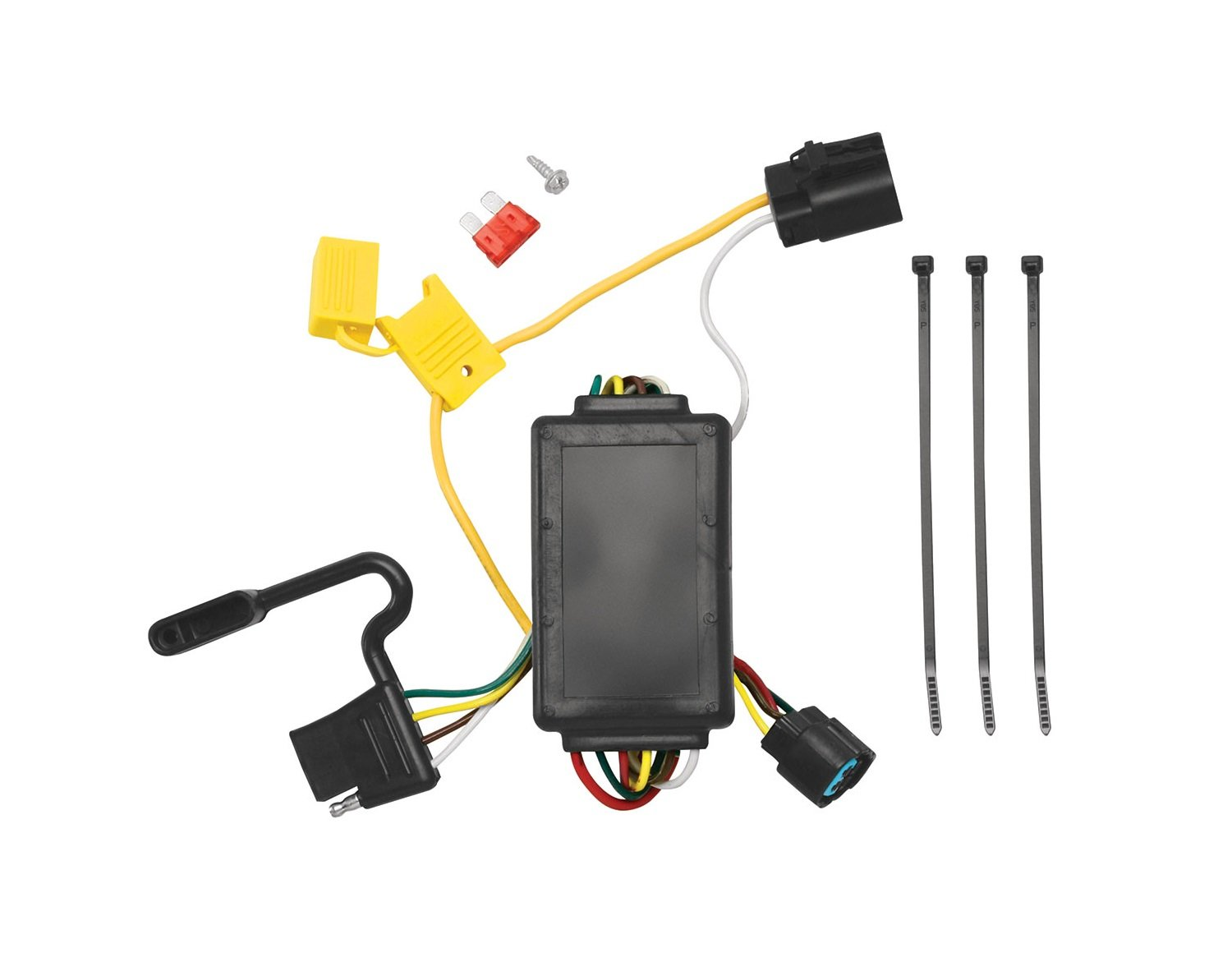 Amazon.com: Tekonsha 118258 4-Flat Tow Harness Wiring Package with Circuit  Protected ModuLite Module: Automotive