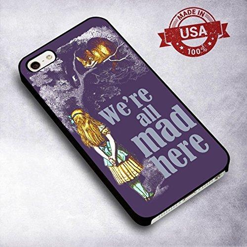 Precious Alice in Wonderland et Cheshire pour Coque Iphone 6 or 6s Case M7S8WK