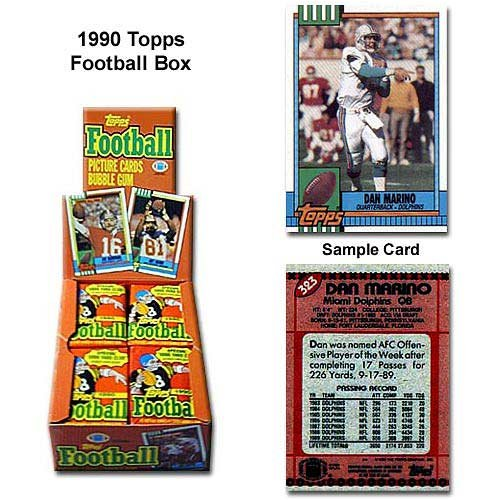 Topps 1990 NFL Unopened Trading Card Box - 1990 Topps Card Nfl