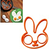 Binmer(TM)1pcs Egg Little Cute White Rabbit Shaper Egg Mold Silicone Moulds Egg Ring Silicone Mold Cooking Breakfast Tools