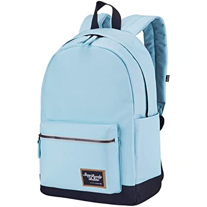 75b771baa Image Unavailable. Image not available for. Colour: BAIDA School Bag,Lightweight  Backpack Casual Daypack Laptop Rucksack Schoolbag for Teen Girls and Boys