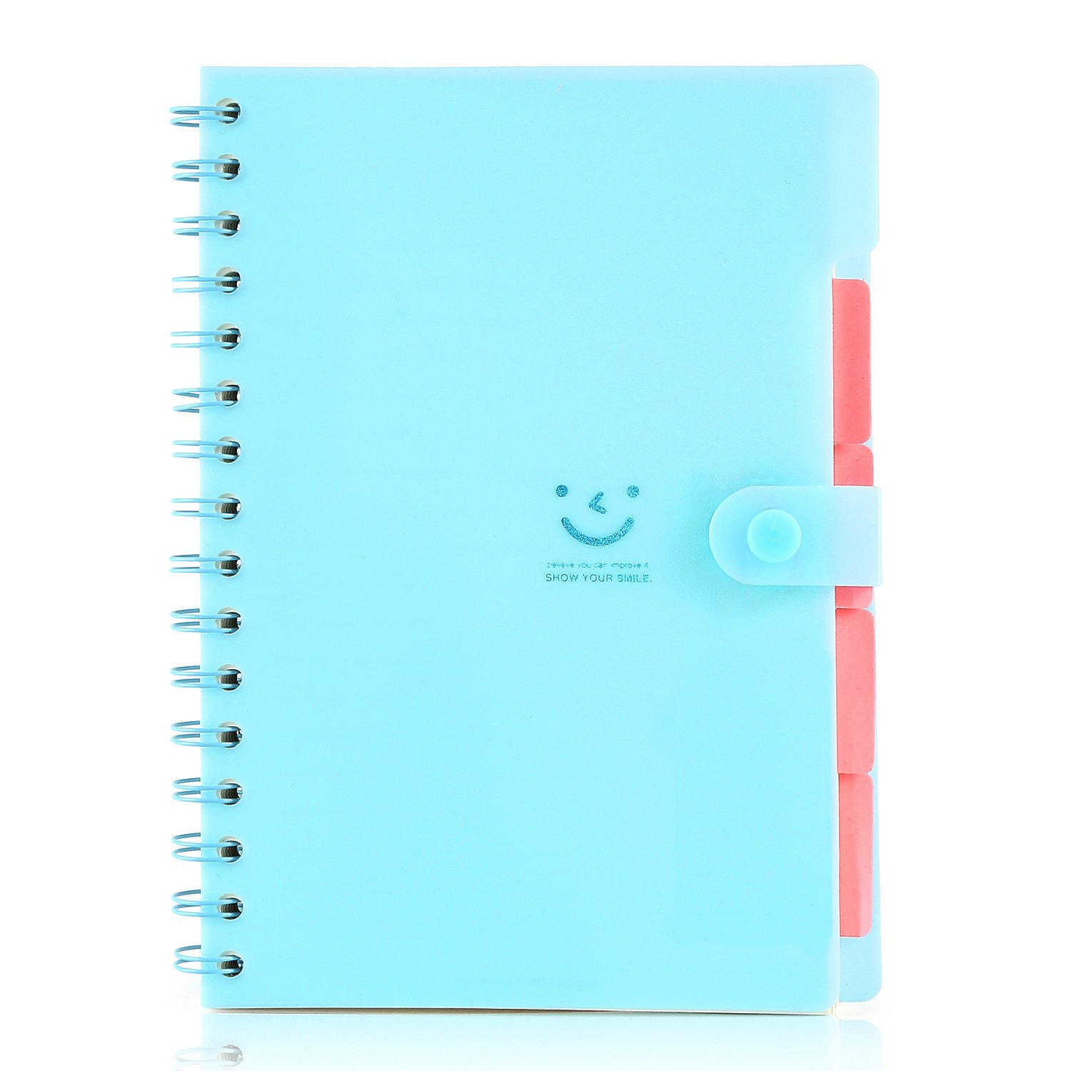 Korean Style Cute Notebook Pp Cover 110 Sheets 7 Colors 21.414.3cm