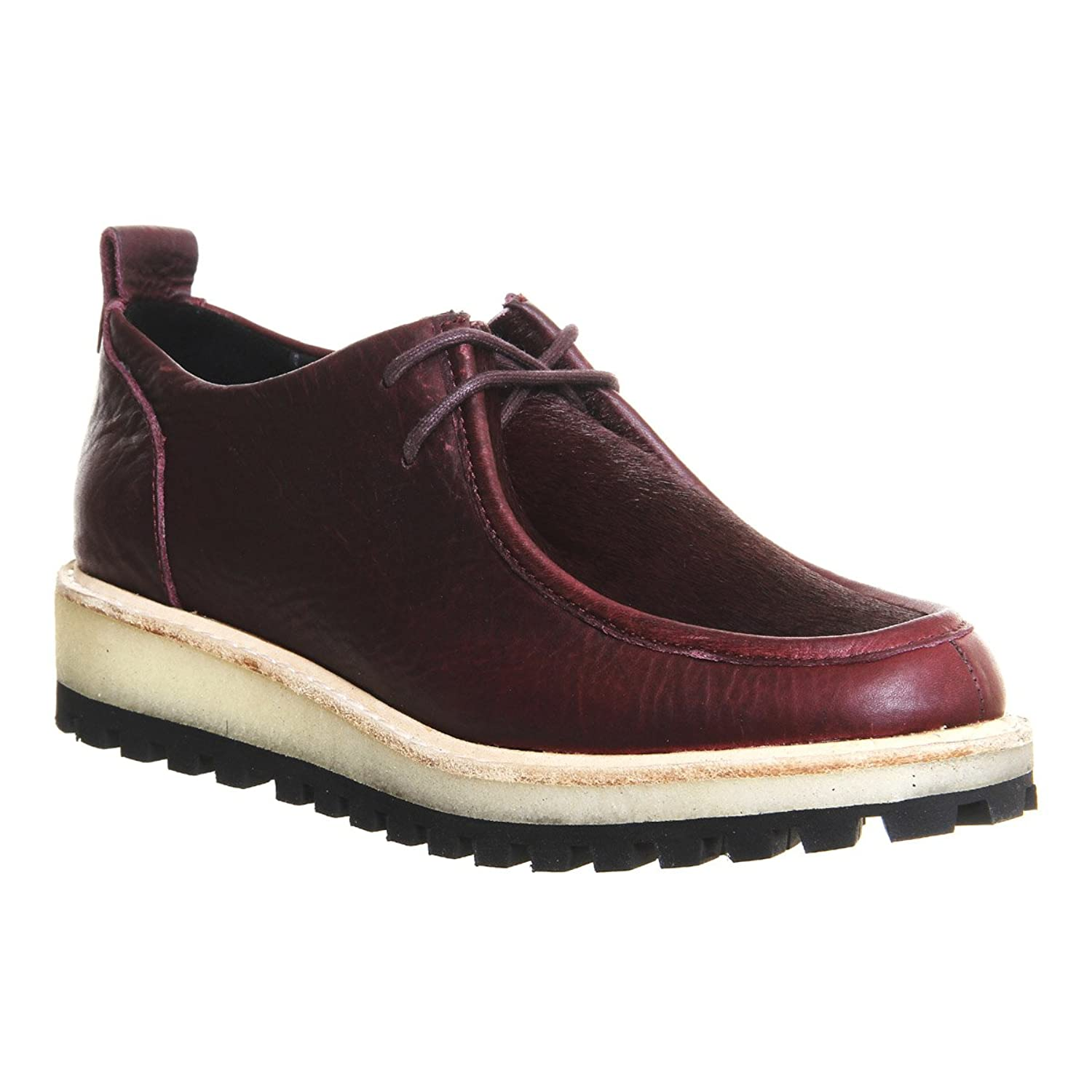 Clarks Women's Wallamoc Trek Wine Leather Oxford Shoes
