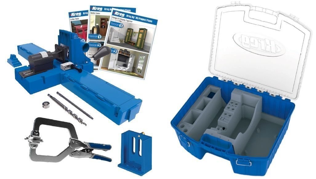 Kreg K5MS Pocket Hole Jig and KTC55 System Organizer Set