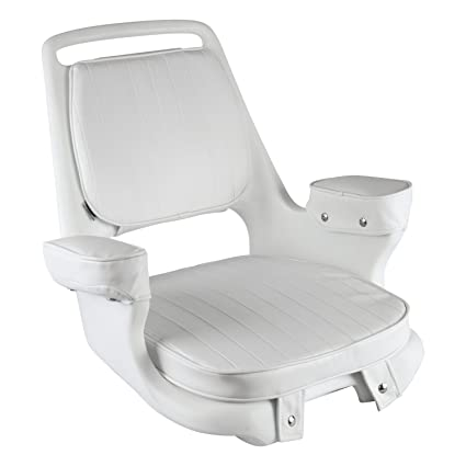 Merveilleux Wise 8WD1007 3 710 Captains Chair With Cushions And Mounting Plate, White