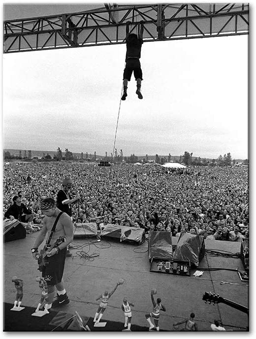 YGYT Canvas Wall Art for Pearl Jam Pinkpop 1992 Art Print Posters Retro Painting on Canvas for Living Room Home Decoration 24x32Inch No Frame
