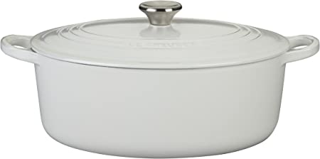 Le Creuset Enameled Cast-Iron 6-3 4-Quart Oval French Oven, White