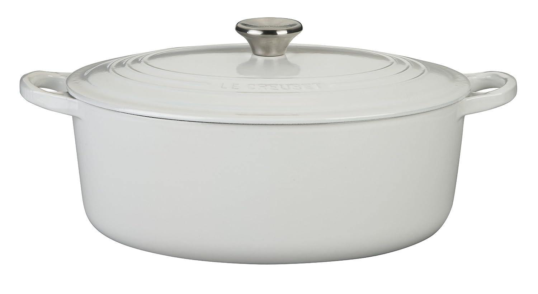 Le Creuset Enameled Cast-Iron 6-3/4-Quart Oval French Oven, White