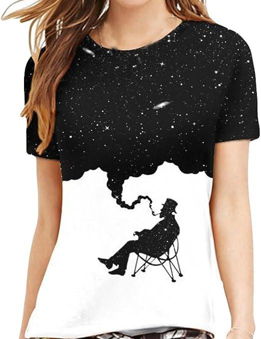 Camicia T-Shirt Uomo Sportivi Vintage Cotone Stretch Maglione Tumblr Elegante Estiva Particolari Tasca Mimetica Homebaby/® Estivi Maglietta Manica Corta Uomo Donna Casual Stampa