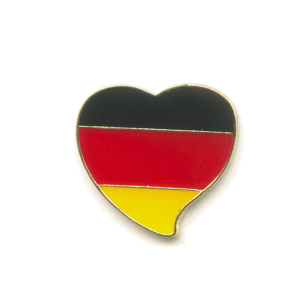Patriotic Heart Germany German Flag Sport Fan Pin Badge 380 Import / Hegerring
