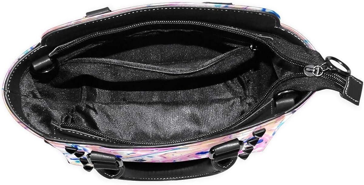 Watercolor Paintnig Marble Womens fashion Handbags Shoulder Bags Handle Satchel