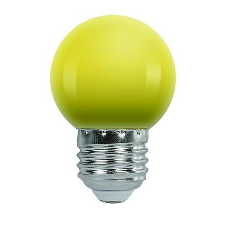 AWE-LIGHT Bombilla de Color led Amarillo 1.5W E27 220V Luces Bombilla Multi-