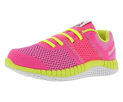 Reebok Kids Girl s Zprint Run (Little Kid Big Kid) Solar Pink Icono 96685a02f