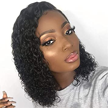 Hair Extensions & Wigs Lace Front Wigs Short Kinky Curly Human Hair Wigs With Baby Hair Pre Plucked Brazilian Remy Hair Lace Front Wigs For Black Women Natural Color