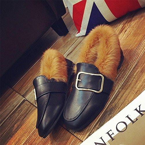 EUR37 negro de Los Partidos de Mujer Moda Todos Zapatos qO804w0