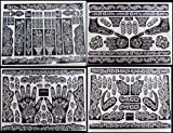 ebay dubai - 10 A3 SHEETS Self Adhesive Decal Stencils For Henna Temporary Tattoo Reusable DIY 126