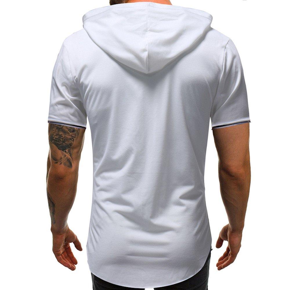 Sudadera con Capucha para Hombre, Lanskirt Camisetas Hombre Originales Frases Estampado Camisas Tops Slim Fit Ropa Hombre Tallas Grandes 3XL Blusas Top ...