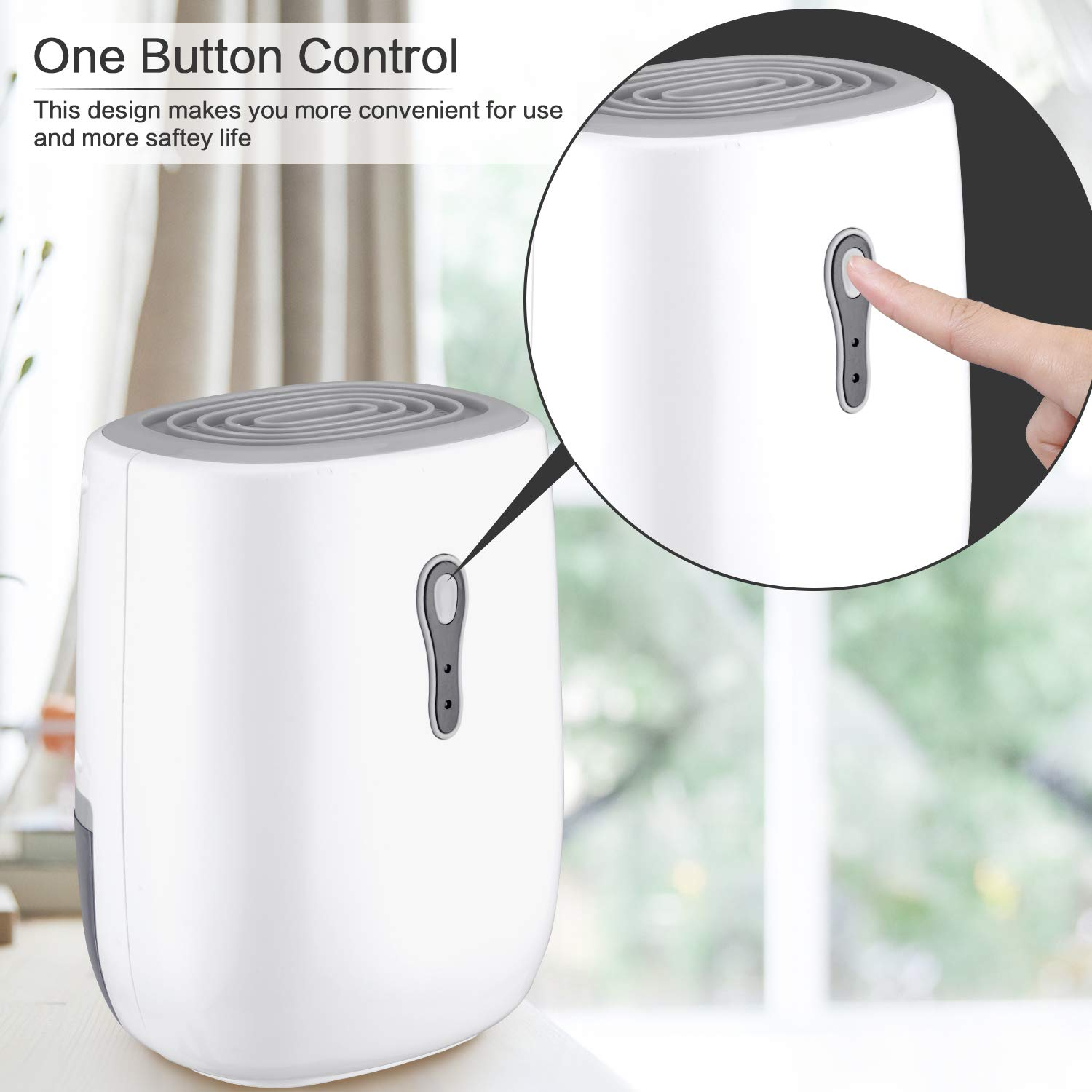 COSVII Dehumidifier for Home 500ML Water Tank, Portable Home Dehumidifier(150 sq ft) Household Small Dehumidifier for Basement Bedroom Baby Room Office Bathroom Kitchen, Auto Shut Off