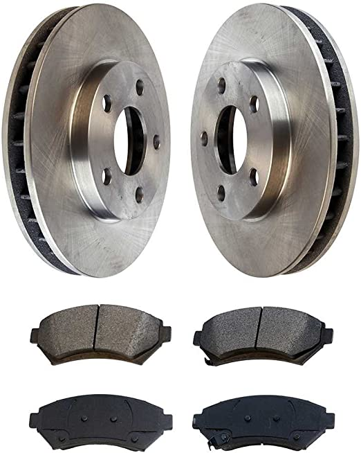 Ceramic Pads /& Rear Brake Drums Front Brake Rotors Shoes For Malibu GrAnd Am