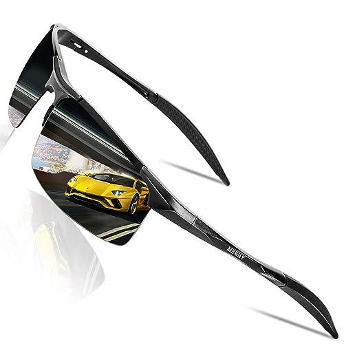 d894487f1a MEWAY Men s Fashion Driving Polarized Sunglasses for Men UV Protection Al-Mg  Metal Frame Ultra