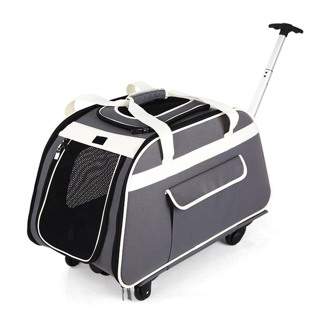 Pet Stroller Folding Wheeled Portable Outing Cat and Dog Universal Pet Trolley Bag Breathable Detachable Handbag