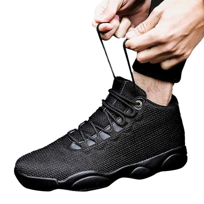 9e4e249a2dd Btruely Zapatilla de Baloncesto para Correr Hombres Zapatillas  Antideslizante Transpirables Zapatos para Correr en Montaña Asfalto Aire  Libre Deportes ...