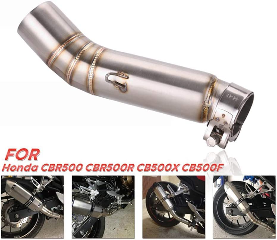 Motorcycle Full Exhaust System Middle Pipe Vent Connect Tube Stainless Steel Exhaust Middle Pipe 50mm for CBR500 CBR500R CB500F CB500X