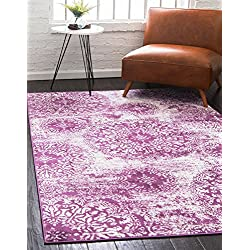 Unique Loom Sofia Collection Traditional Vintage Purple Area Rug (4' x 6')