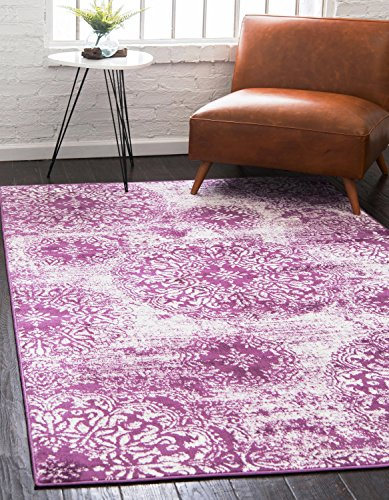 Unique Loom Sofia Collection Traditional Vintage Purple Area Rug (3' x 5')