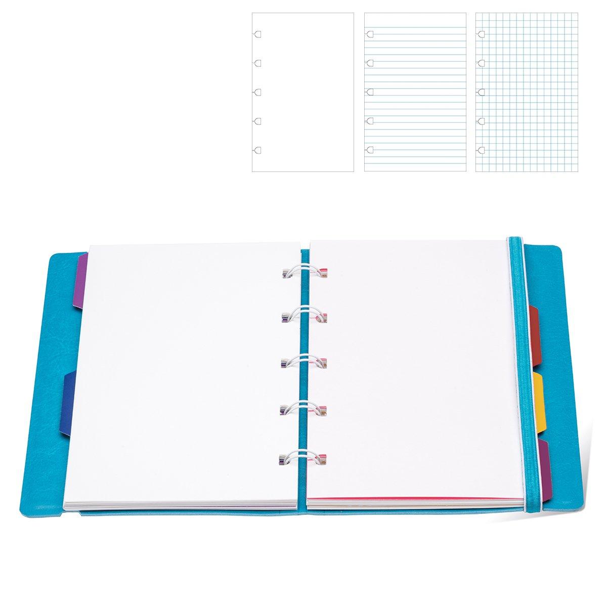 Hojas de recambio Filofax para cuaderno tamaño A5 (a rayas), color blanco 152008