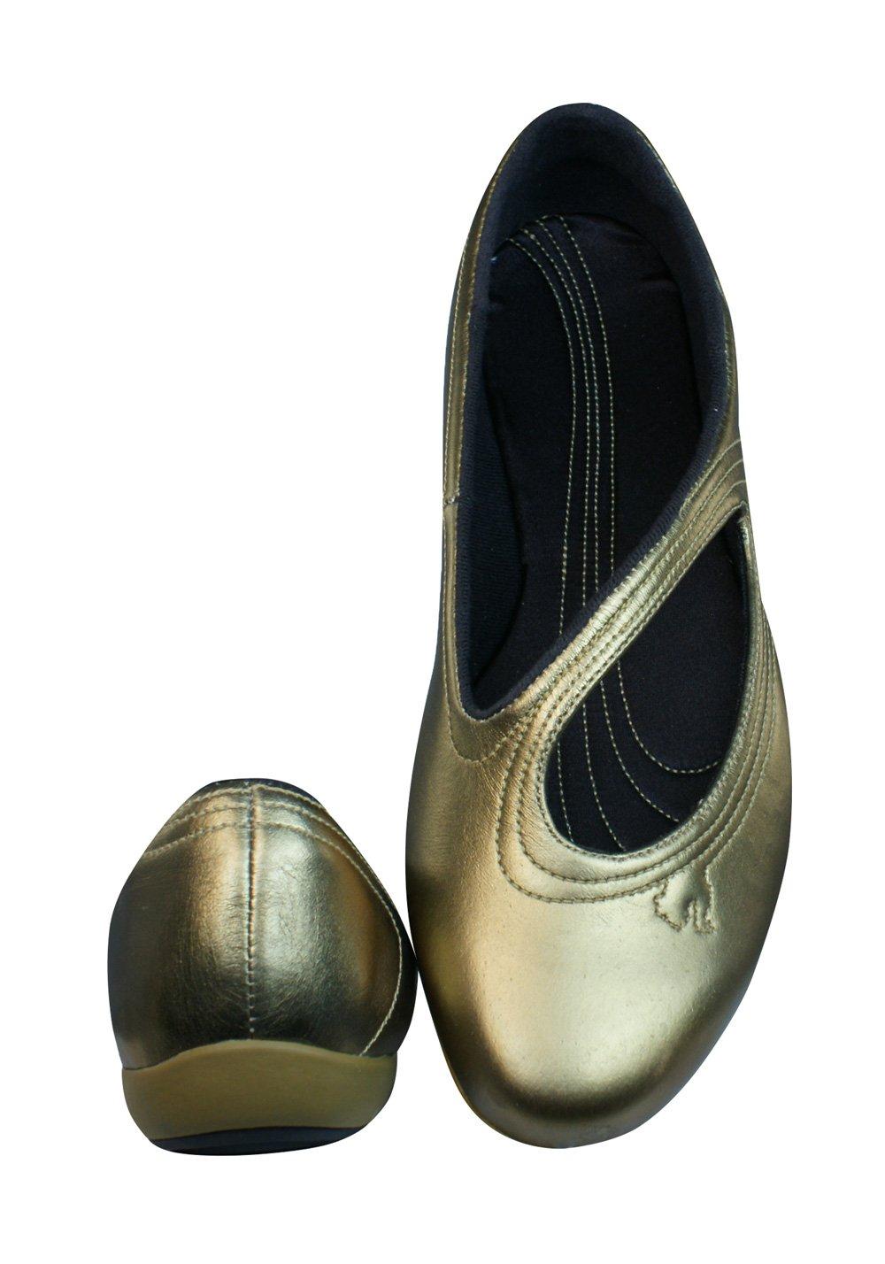 Puma Vitta Metallic Damen Leder Ballerina-Gold-41 HoWWwRs