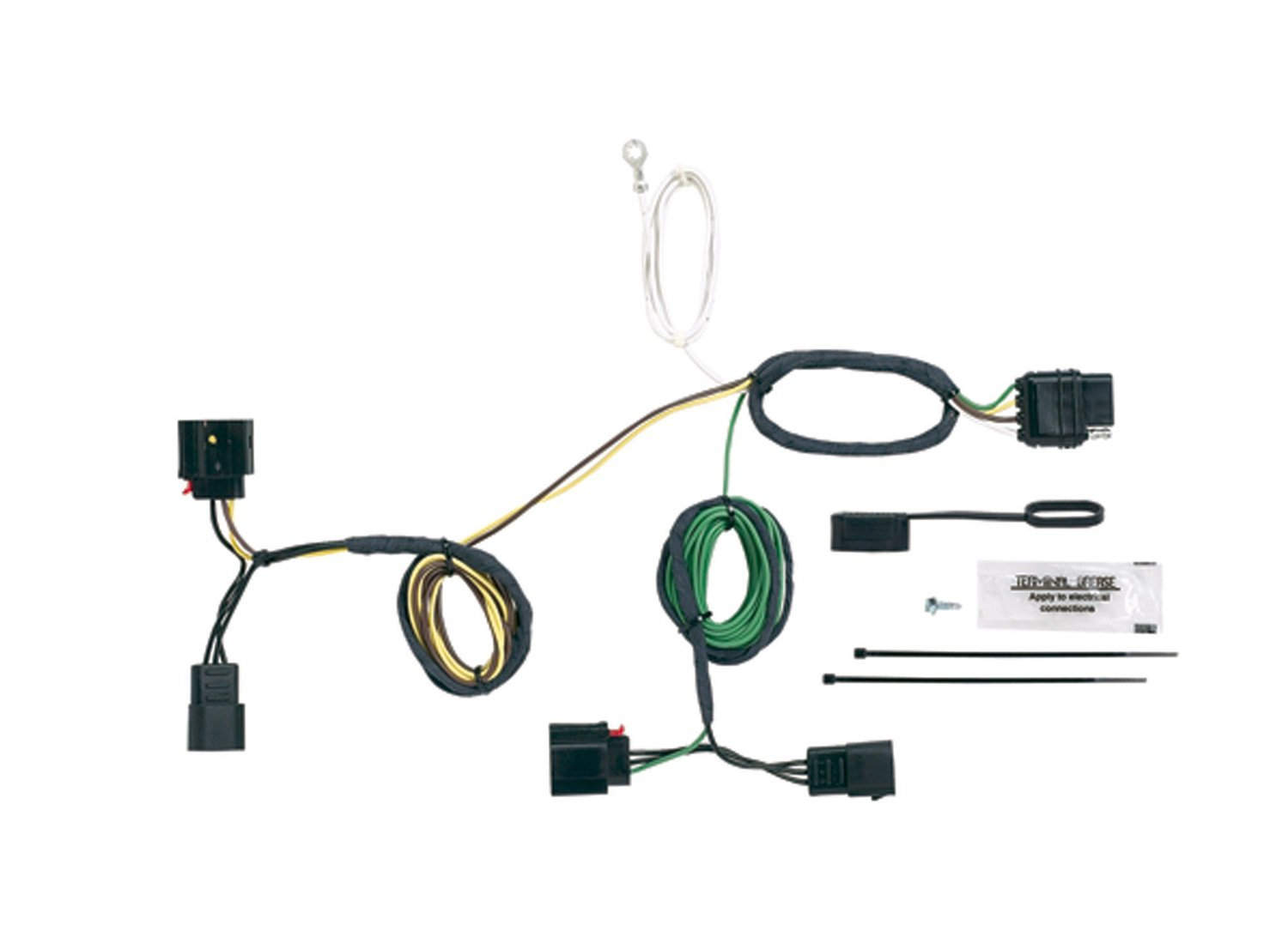 Jeep Cherokee Flat Tow Wiring Harness Library Trailer Diagram Besides Wrangler Amazoncom Hopkins 42555 Plug In Simple Vehicle To Kit