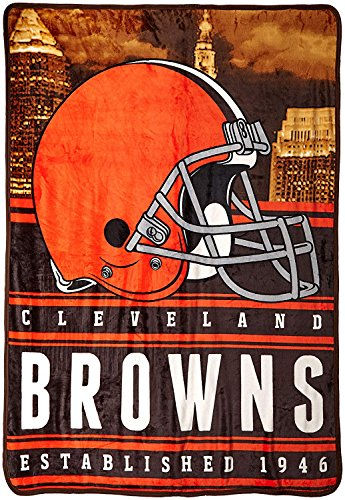 Officially Licensed NFL Cleveland Browns Stacked Silk Touch Throw Blanket, 60