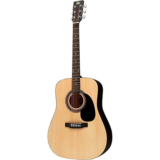 Amazon Rogue RA 090 Dreadnought Acoustic Guitar Natural Musical Instruments