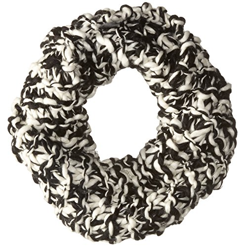 BCBGeneration Women's Chunky Two-Tone Cowl Scarf, Black, One Size