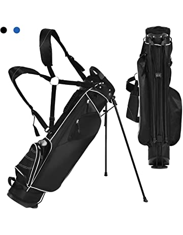 8a6da27c767 Tangkula Stand Bag Lightweight Organized Golf Bag Easy Carry Shoulder Bag  with 3 Way Dividers and