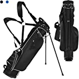 Tangkula Stand Bag Lightweight Organized Golf Bag Easy Carry Shoulder Bag with 3 Way Dividers and 4 Pockets for Extra…