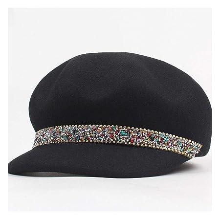 MADONG 100% Lana Mujer Fieltro Sombreros Sombreros de Dama ...