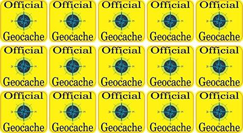 StickerTalk Official Geocache Vinyl Stickers, 1 inch by 1 inch